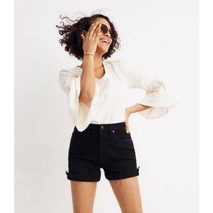 Madewell High Rise Denim Shorts Washed Black - 26
